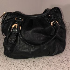 Bagdely Mischka Black Leather Bag